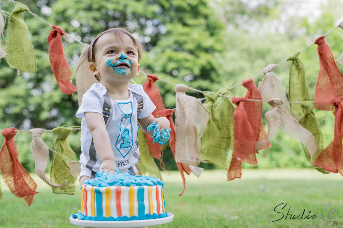 1 Year Old Birthday Cake Smash - Greenfield Park WI-015